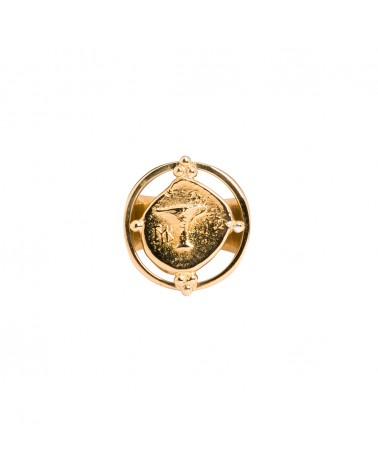 Chevalière bague Plaqué or Rose Bijoux Margidarika