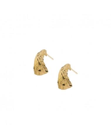 Boucles d'oreilles dorées 24k Nérée Bijoux Margidarika