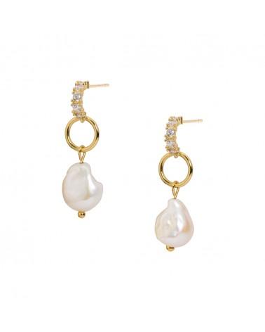 Boucles d'oreilles dorées 24k Muse Bijoux Margidarika