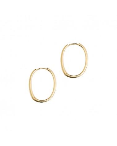 Boucles d'oreilles dorées 24k Denise Bijoux Margidarika
