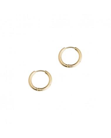Boucles d'oreilles créoles dorées 24k Denise Bijoux Margidarika