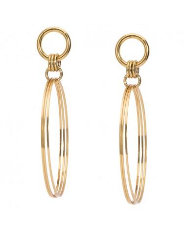 Boucles d'oreilles dorées 24k Bijoux La Cavale Margidarika