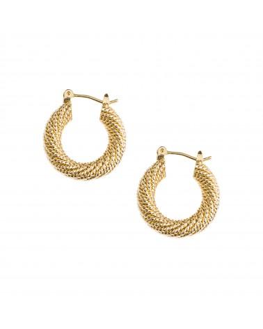 Boucles d'oreilles créoles dorées 24k Coco Bijoux Margidarika