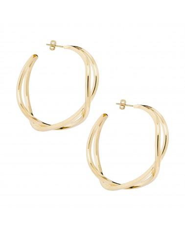 Boucles d'oreilles dorées 24k Jane Bijoux Margidarika