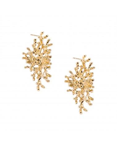 Boucles d'oreilles dorées 24k Persée Bijoux Margidarika