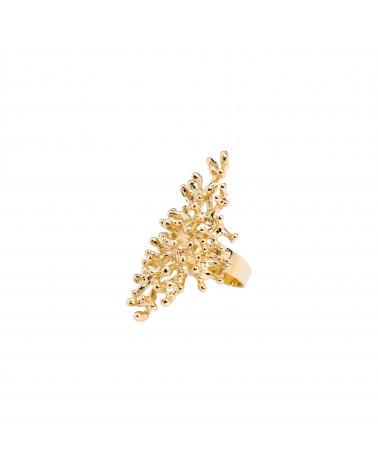 Bague dorée 24k Persée Bijoux Margidarika