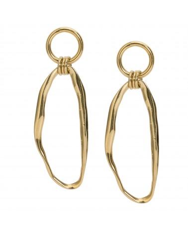 Boucles d'oreilles dorées 24k Rive Droite Bijoux Margidarika