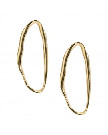 Boucles d'oreilles dorées 24k Pigalle Bijoux Margidarika