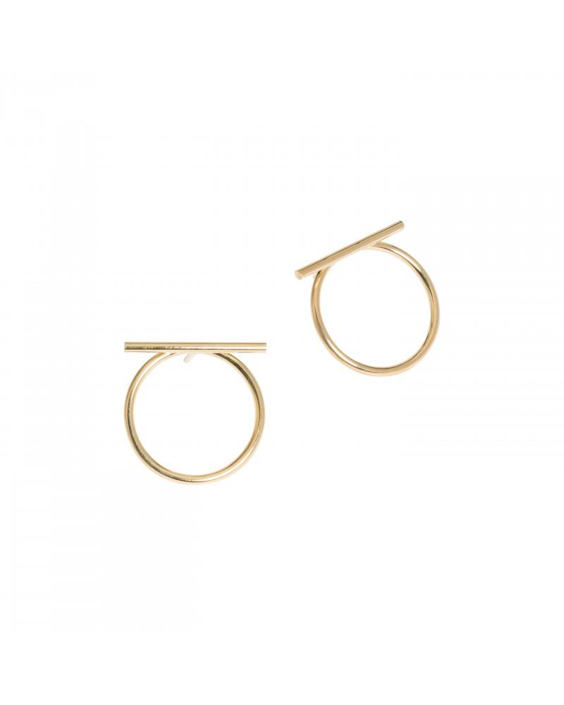 Boucles d'oreilles dorées 24k Akila Bijoux Margidarika