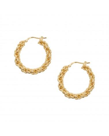 Boucles d'oreilles dorées 24k Rita Bijoux Margidarika