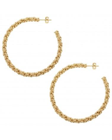 Boucles d'oreilles dorées 24k Helen Bijoux Margidarika