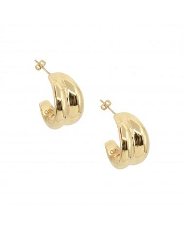 Boucles d'oreilles dorées 24k Marina Bijoux Margidarika