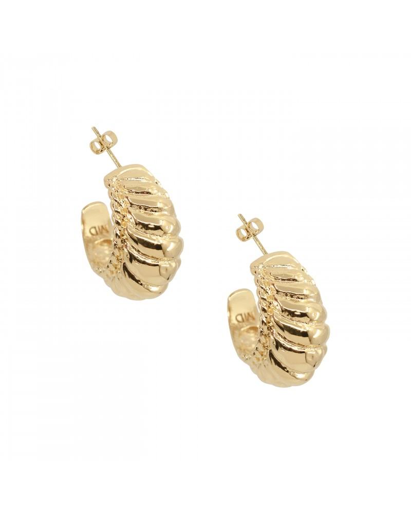 Boucles d'oreilles dorées 24k Charlotte Bijoux Margidarika