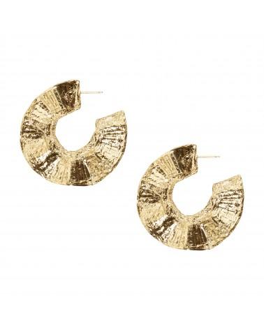 Boucles d'oreilles créoles dorées 24k Honorée Bijoux Margidarika