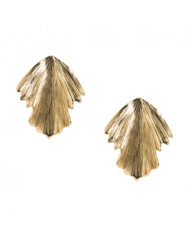 Boucles d'oreilles Dorées 24k Fauve Bijoux Margidarika