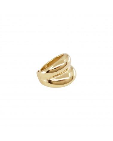 Bague Chevaliere dorée 24k Marina Bijoux Margidarika