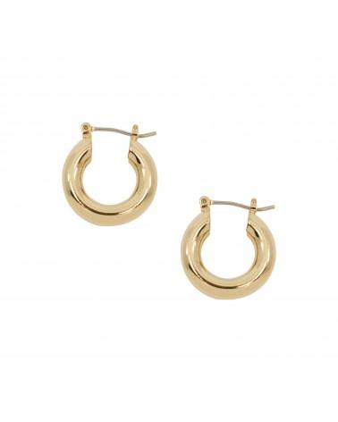 Boucles d'oreilles créoles dorées 24k Helen Bijoux Margidarika