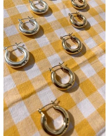 Boucles d'oreilles dorées 24k et argent Helen Margidarika
