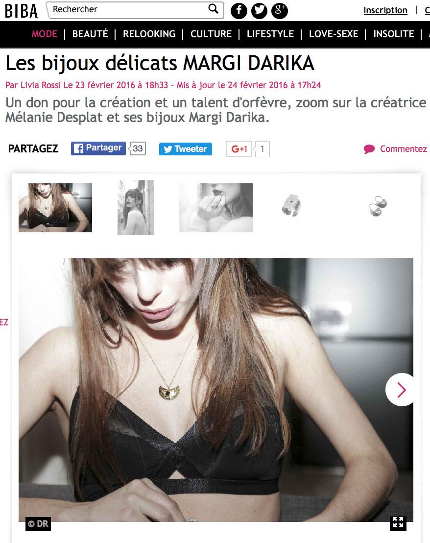 Parution web Biba Margi Darika.