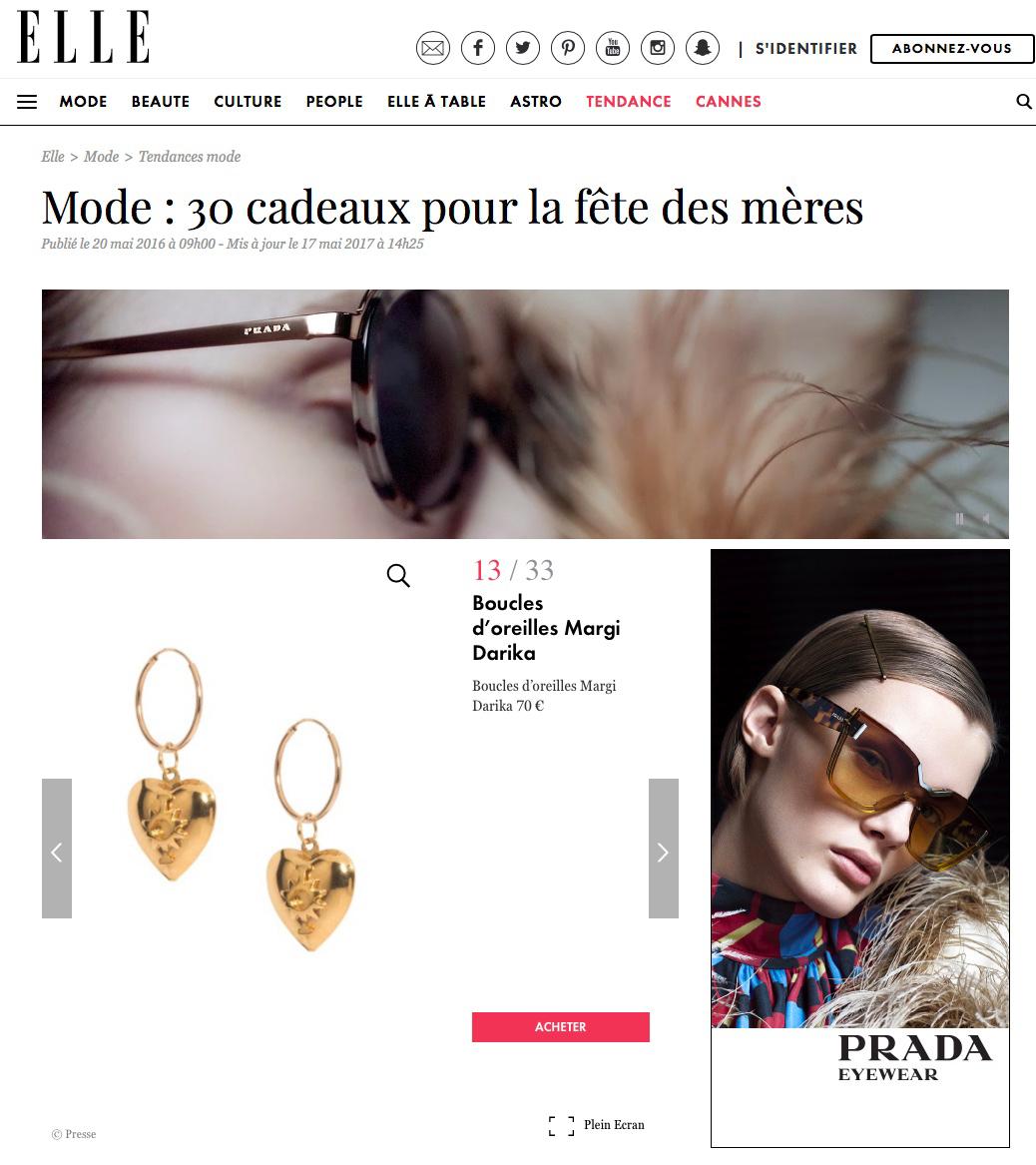Parution Ellle Magazine Margi Darika.