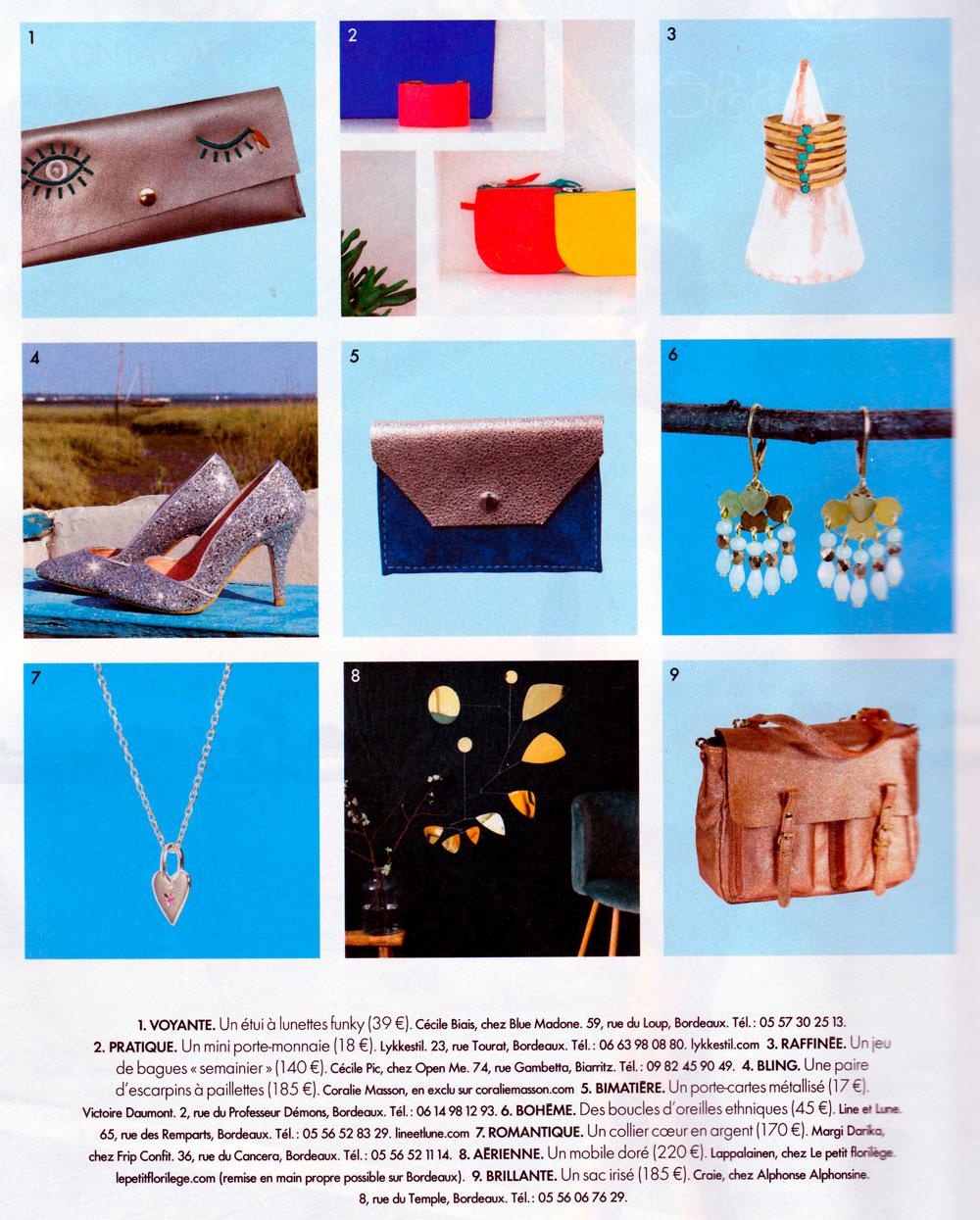 Elle magazine parution Margi Darika.