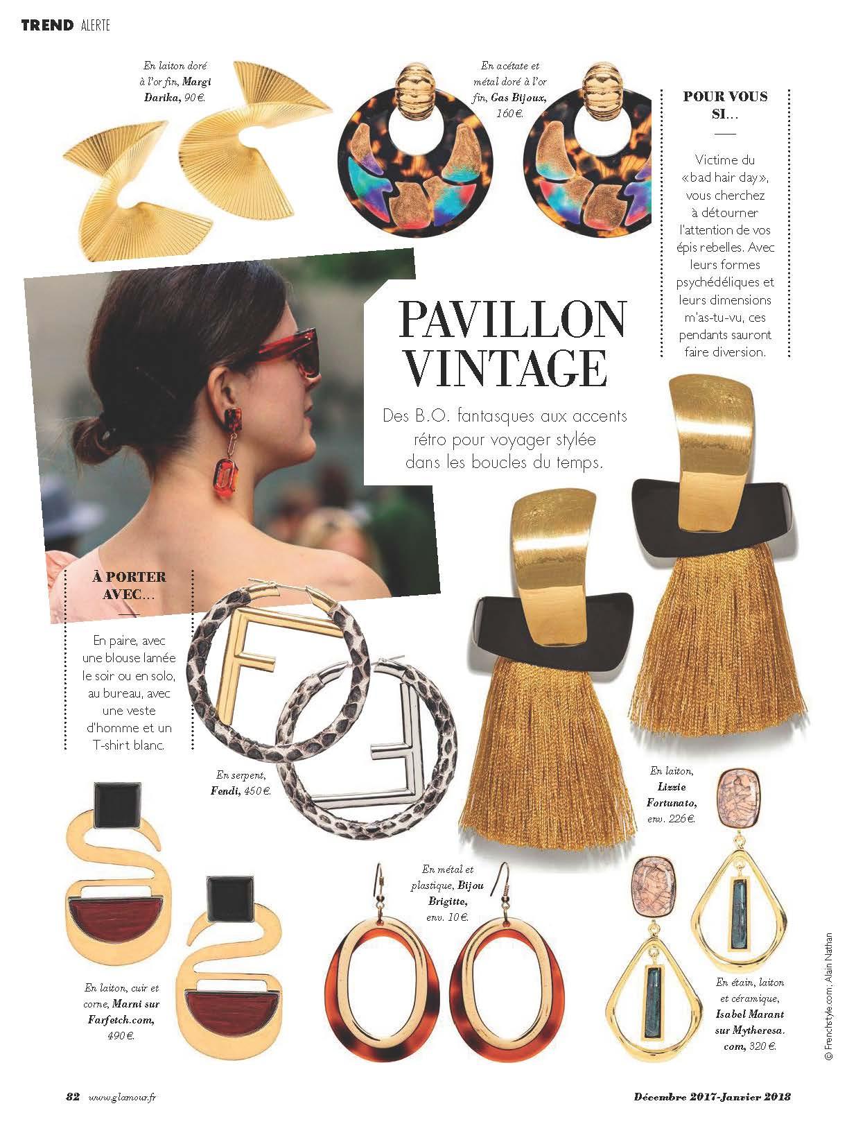Glamour parution magazine Margi Darika.