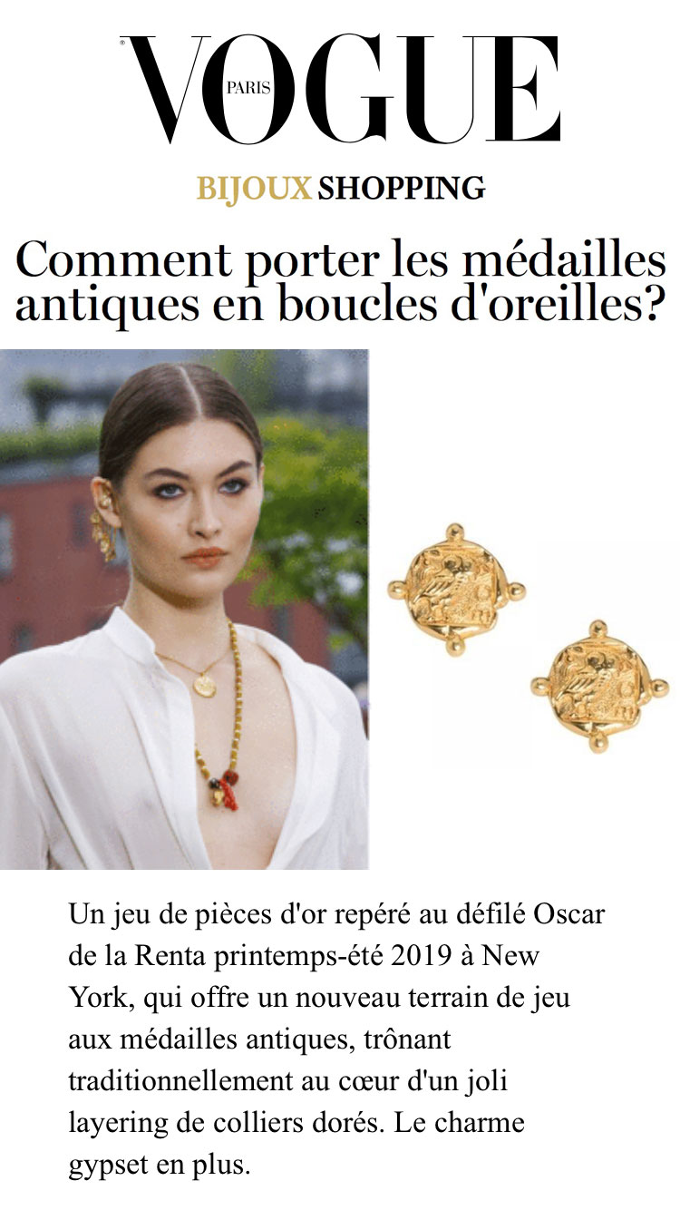 Vogue magazine parution web Margi Darika.